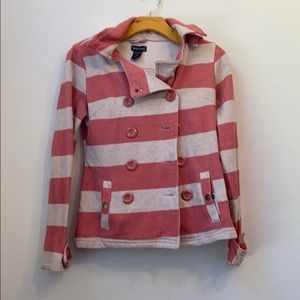 WET SEAL COTTON BLEND RED STRIPED JACKET